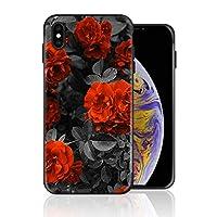 iPhone 11 pro MAX ケース 黒白 紅い 花柄 レトロ 古い 携帯ケース スマホ用 携帯カバー アイフォンカバー 超耐久 軽量 超薄型 擦り傷防止 全面保護 全機種対応 ソフトケース シリコン TPU