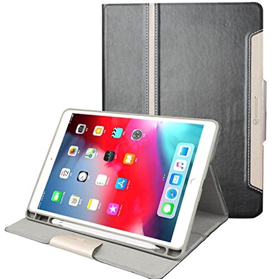 更新する微弱一人でFIREDOG Wessleco iPad Pro 10.5インチ用ケース / iPad Air 3ケース ペンシルホルダー付き PUレザー フォリオ スリム ハードバック 10.5インチiPad Pro 2017 / Apple 第3世代 iPad Air 2019用, マルチカラー, CL98 for IPad Air 3 Case