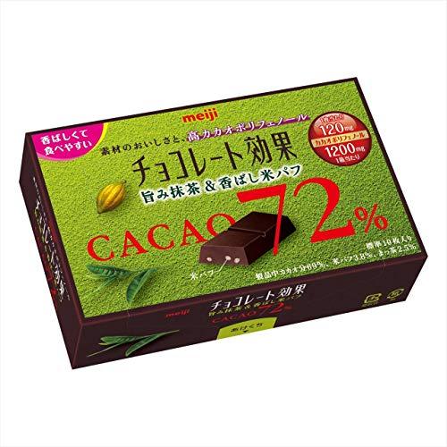 チョコレート効果 カカオ72% 旨み抹茶&香ばし米パフ