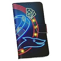 igcase Xperia XZ2 SO-03K 専用ケース 手帳型 スマホカバー カバー ケース スマホケース 002340 クール ネオン イラスト