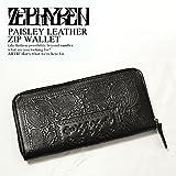 (ゼファレン)ZEPHYREN PAISLEY LEATHER ZIP WALLET z16ux03 BLACK FREE