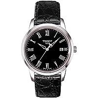 [ティソ]TISSOT 腕時計 クラシック ドリーム クォーツ ブラック文字盤 レザー T0334101605301 メンズ 【正規輸入品】