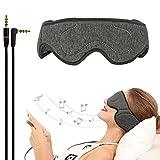 ACOTop 有線スリープヘッドフォンアイマスク 超薄型スピーカー付き 睡眠 ノイズキャンセリング ヘッドホン 旅行 瞑想 リラクゼーションに最適 AP-PH-DGA