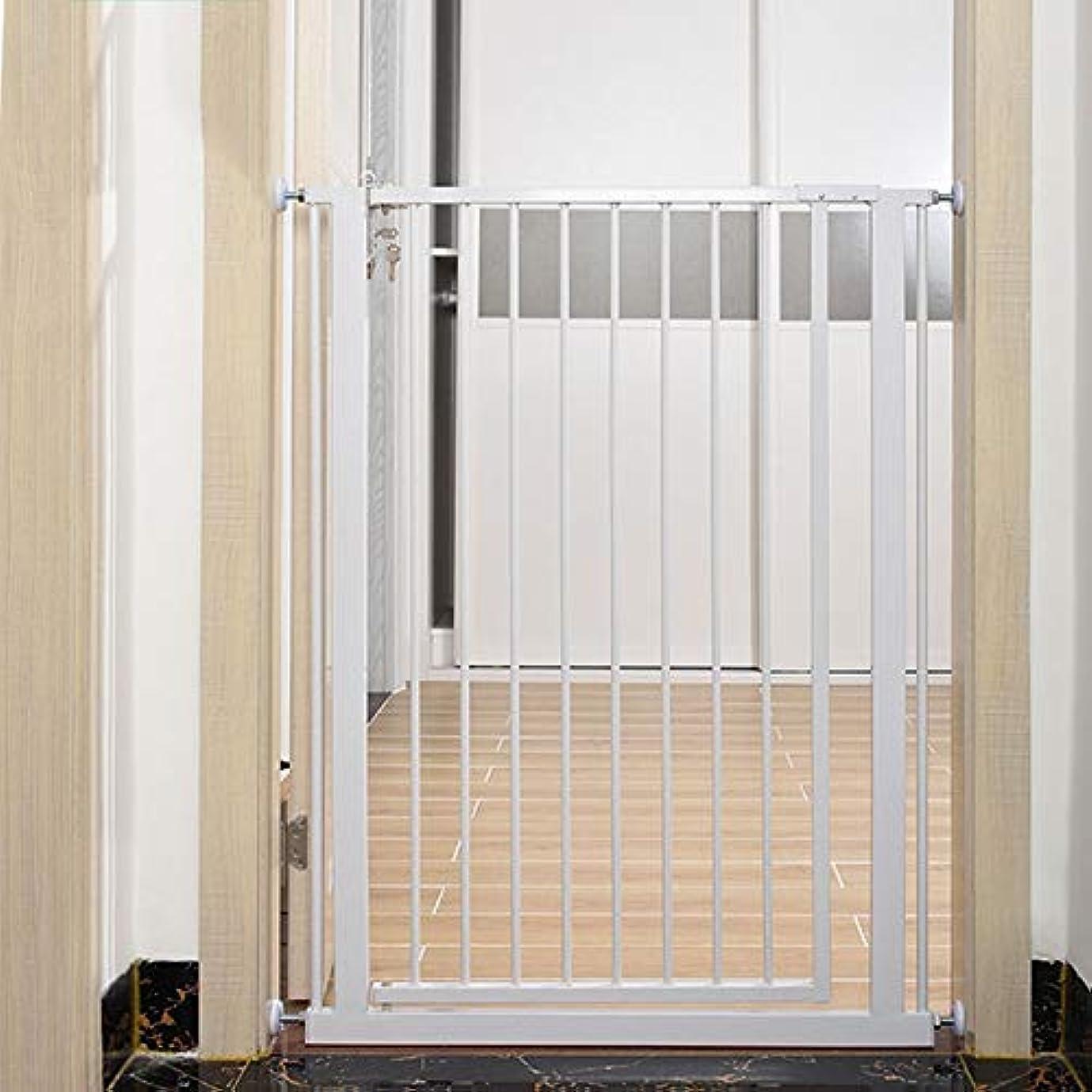 全体にデッキ慈悲ベビーフェンス 屋内ホワイトメタル安全ゲイツ出入り口階段廊下のための余分な背の高いペットゲート ペットゲート (Size : 90-97cm)