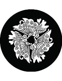 家紋シール 三つ揚羽蝶紋 布タイプ 直径40mm 6枚セット NS4-1560