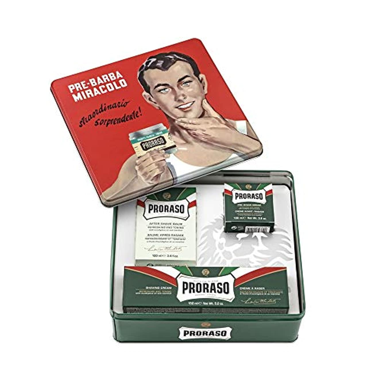 間違えた宣伝不適Proraso ジーノ ヴィンテージ リフレッシュ セレクション 缶[海外直送品] [並行輸入品]