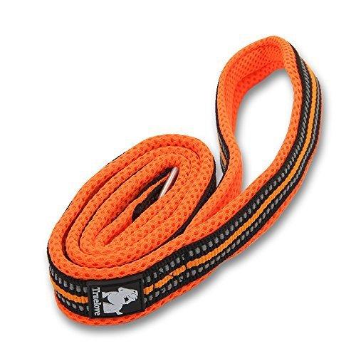 君のベイマックス ペット用品 犬用リード  訓練リード ロングリード 3M反射材料 ナイロン製  小中大型犬に向け  通気性  調節可能 メッシュペット ハーネス  サイズM 2m オレンジ