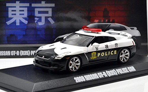 """GREENLIGHT 1:43SCALE MIJO EXCLUSIVES - 2015 NISSAN GT-R (R35) POLICE CAR"""" グリーンライト Mijo toys限定 1:43スケール 「2006日産 GT-R (R35)パトカー」 51068 [並行輸入品]"""