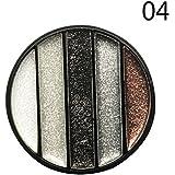 Ruier-tong アイシャドウ パレット 5色 パールアイシャドー 金属ツヤ 極め細かいパウダー ぴったり密着 光沢 素晴らしい発色 明るい目効果 長持ち プロ仕様 初心者にも 厳選6種 (04)