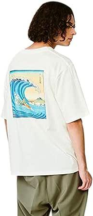 ティーケー タケオキクチ(tk.TAKEO KIKUCHI) 【とうきょう くらしっく】NAGA×tk.TAKEO KIKUCHI 「さ~ふぃんの図」バックプリントTシャツ