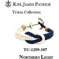 KIEL JAMES PATRICK(キールジェイムスパトリック) kjp-056 ロープ ブレスレット Triton Collection NORTHERN LIGHT(WHT/NVY) TC-1299-107