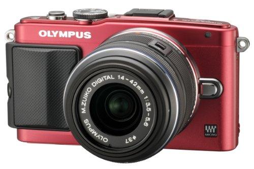 OLYMPUS ミラーレス一眼 PEN Lite E-PL6 レンズキット レッド E-PL6 LKIT RED
