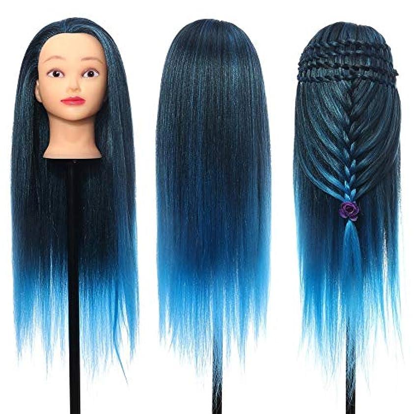 少なくとも電気の意志に反するマネキンヘッド ポータブル髪のトレーニングアクセサリー26「」インチカラフルな髪の理髪実践トレーニングヘッドマネキンサロン 練習用 グマネキンヘッド (色 : C2, サイズ : 60cm)