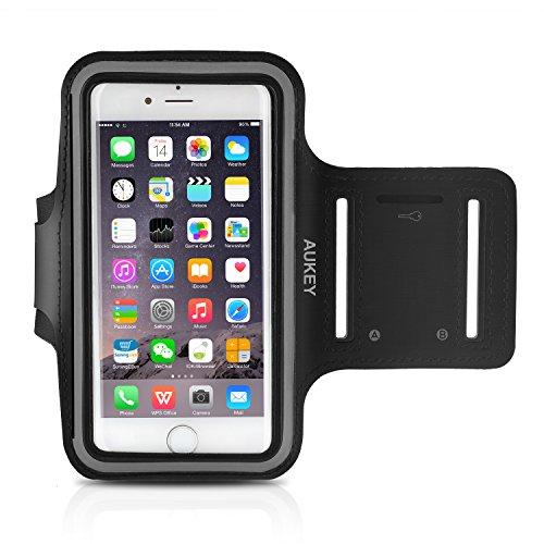 Aukey スポーツアームバンド ヘッドフォンホルダー 携帯ケース iPhone 6S/6用 PC-T4