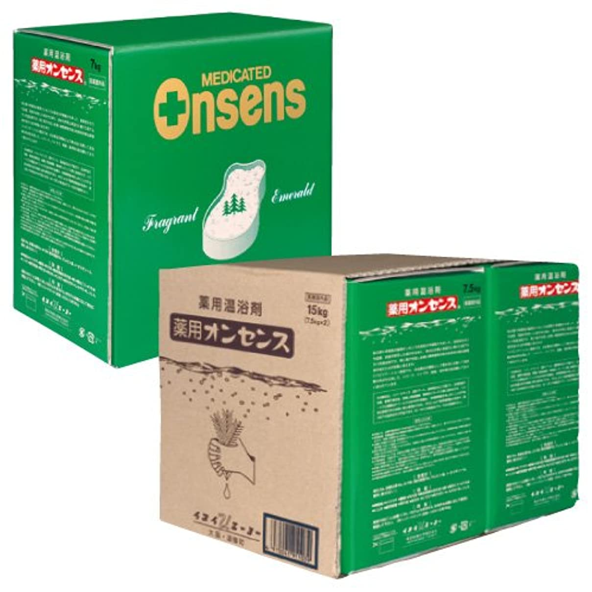 もっと少なく結晶レジ入浴剤 (薬用オンセンス) 7kg /7-2536-02