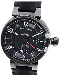 [ルイ・ヴィトン]LOUIS VUITTON 腕時計 タンブールGMTエボリューションインブラック自動巻き Q11590 メンズ 中古