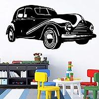 Yxjj1 黒クラシックカーウォールステッカー用男の子の寝室の家の装飾リビングルーム防水ビニールウォールステッカー壁画紙(43センチ×92センチ)