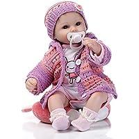 Herin Rebornベビー人形Lifelikeソフトビニール幼児新生児赤ちゃん人形クリエイティブクリスマス新しい年ギフトfor Children 16 in 42 cm磁気おしゃぶり赤ちゃんおもちゃ