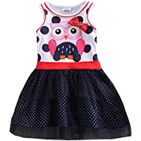 VIKITA Summer Toddler Girl Clothes Casual Girls Dresses for Kids 2-8 Years