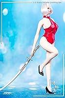 【R・DOLL】 1/6 フィギュア ドール 女の子 漫画・風 コスプレ 服・セット 【 水着 + ハイヒール 】 セクシー 萌え 女性 素体 アクセサリー M006