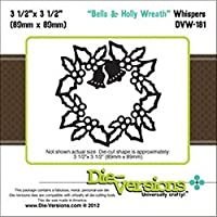 "Die-Versions Whispers Die-Bells & Holly Wreath, 3.5""X3.5"" (並行輸入品)"