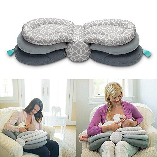 赤ちゃん 授乳枕 多機能 看護洗えるカバー 調整可能モデル クッション 幼児...