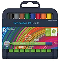シュナイダー Schneider カラーペン カラーマーカー リンクイット Link-It ファインライナー 8色セット 191298 ペン先サイズ:0.4mm 極細