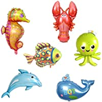Baosity 6個セット 風船 バルーン 可愛い 海の動物 ドルフィン タコ 魚 子供誕生日 テーマパーティー 飾り付け プレゼント
