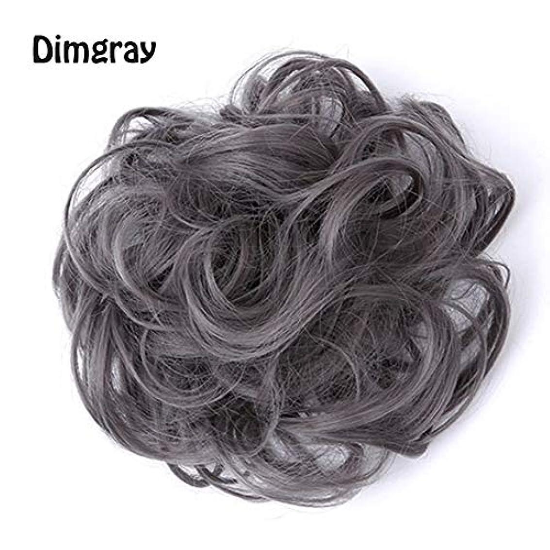 漂流オーストラリア納屋乱雑な髪のお団子シュシュの拡張機能、ポニーテールシニョンドーナツアップ、女性用カーリー波状リボンアクセサリー