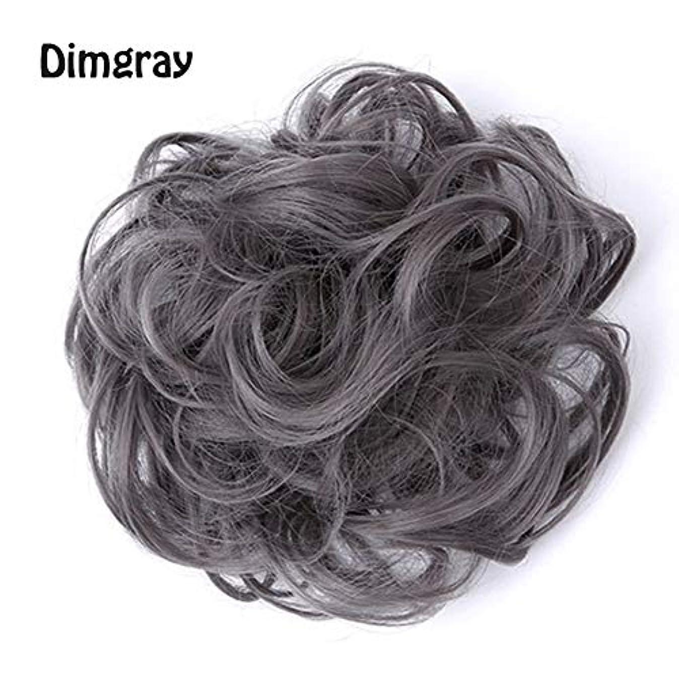 フェードブルジョン概要乱雑な髪のお団子シュシュの拡張機能、ポニーテールシニョンドーナツアップ、女性用カーリー波状リボンアクセサリー