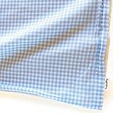はぐまむ 日本製 お昼寝布団カバー ガーゼ素材 綿100 ファスナー 保育園 ベビー布団 カバー (チェック ブルー, 敷きカバー 大判 80×130) 2510A-02
