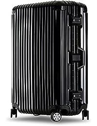 クロース(Kroeus)スーツケース キャリーケース 耐衝撃 仕切り板 クロスベルト付き メッシュポケット 海外旅行 出張 360度静音キャスター 保護用ガード TSAロック 大容量