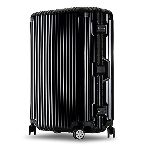 クロース(Kroeus)スーツケース キャリーケース 耐衝撃 仕切り板 クロスベルト付き メッシュポケット 海外旅行 出張 360度静音キャスター 保護用ガード TSAロック 大容量 (S, ブラック)