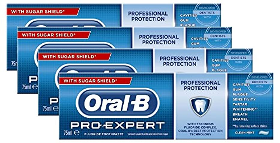 メタリック人間最も早いOral-B Toothpaste Pro-Expert All Around Protect 75ml Case of 4 by Oral-B