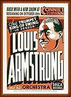 ポスター ルイ アームストロング ルイ アームストロング - Connie\'s Inn NYC、 1935 - 額装品 ウッドハイグレードフレーム(ナチュラル)