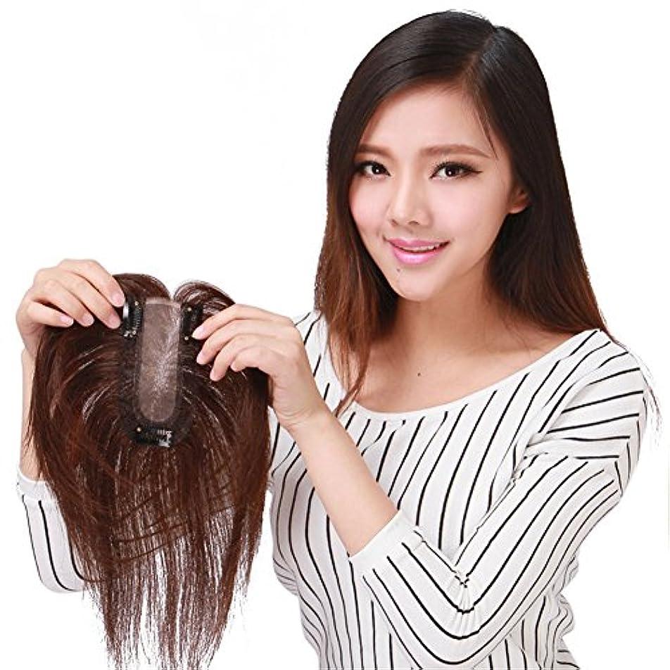 Remeehi部分ウイッグ ヘアウィッグ 人工皮膚 絹 ポイントウィッグ カバーピース 自然 ヘアーピース 薄毛隠し
