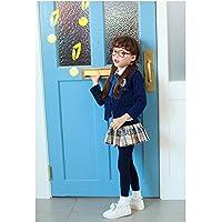 Dagly(TM)少年少女のファッションスタイルのための子供のブルー長袖ソフトカーディガンためホットスクールコート