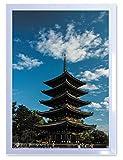 【DXポスター】安永新一のポスター フレーム付き  奈良・興福寺五重塔 奈良県 写真 風景 インテリア 耐水 パシャデリック  P-A2-PS-YSG-JWX7X6-wh P-A2-PS-YSG-JWX7X6-wh