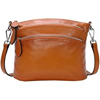 Heshe Womens Soft Leather Handbags Shoulder Bag Multi Zipper Pocket Small Bags Designer Handbag Crossbody Purse Satchel and Purses for Ladies