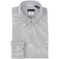 (ザ・スーツカンパニー) ボタンダウンカラードレスシャツ ストライプ 〔EC・CLASSIC SLIM-FIT〕 ネイビー×ホワイト
