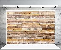 aofoto 8x 6ftビンテージグランジ木製フェンス写真背景古い木製Plank BackdropフラグメントHardwoodボードレトロパネルKid Adult Boy Girl Portrait Photoshoot Studio Propsビデオドレープ壁紙