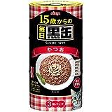 黒缶 15歳からの毎日黒缶3缶パック かつお 160g×54缶 (まとめ買い)