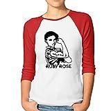 Typhoon KAORI レディース ラグラン7分袖Tシャツ カッコいい女子 Ruby Rose フェミニズム 強くなれ! カジュアル創意 オリジナル7分丈