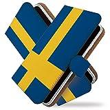 KEIO ケイオー LG it LGV36 カバー 手帳型ケース 国旗 lgitlgv 36 手帳 かっこいい 格好いい LG it LGV36 ケース 手帳型 世界 の 国旗 スウェーデン エルジー イット エルジーイット ittn世界の国旗スウェーデンt0717