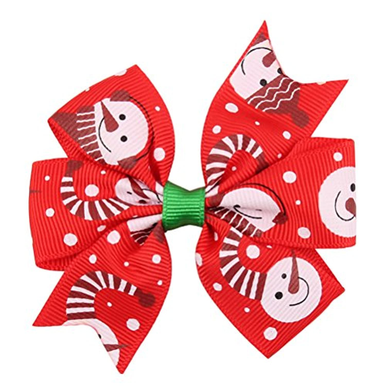 Zhhlaixing ベビー小物 Kids Girls Colorful Christmas Ribbon Hair Clips Headdress Bowknot Hairpin Hair Accessories