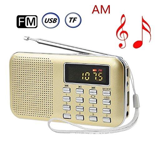 CSMARTE AM FMラジオ 超薄型ミニポケットラジオ ...