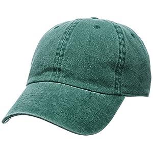 (ニューハッタン)NEW HATTAN PIGMENT DYED COTTON BASEBALL CAPS NHN1201 GR GREEN F