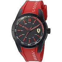 ブラック メンス アナログ カジュアル クォーツ Ferrari 時計 RedRev ???? 0830299