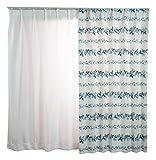 SUMINOEその他 ドレープカーテン プー/リース(100×200cm) M1110B ブルーの画像