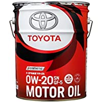 TOYOTA(トヨタ) エンジンオイル トヨタ純正 キヤッスルモーターオイル 0w-20 SN/GF-5 全合成油 20L 08880-12203